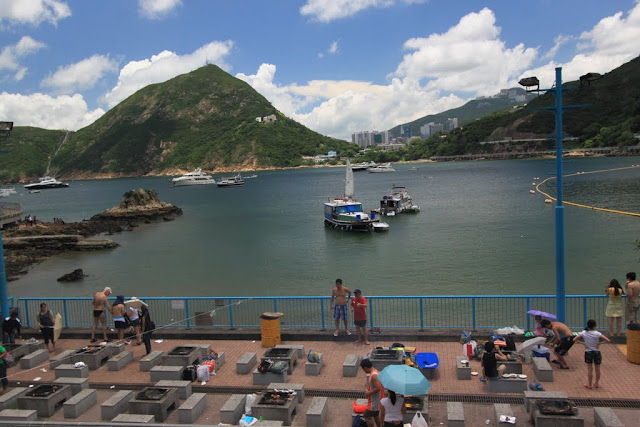 Barbeque (BBQ) pits at Stanley beach in Hong Kong