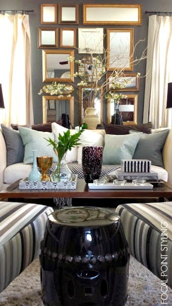 Ordinaire I Transitioned Our Living Room From All Black U0026 White To Having Accents  With Hints Of Mint For Spring. The Black Garden Stool Works Great Paired  With The ...