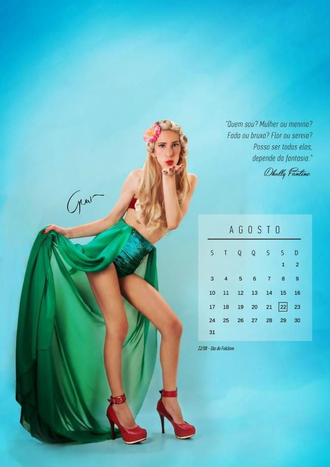 Trans viram pin-ups para calendário - Agosto