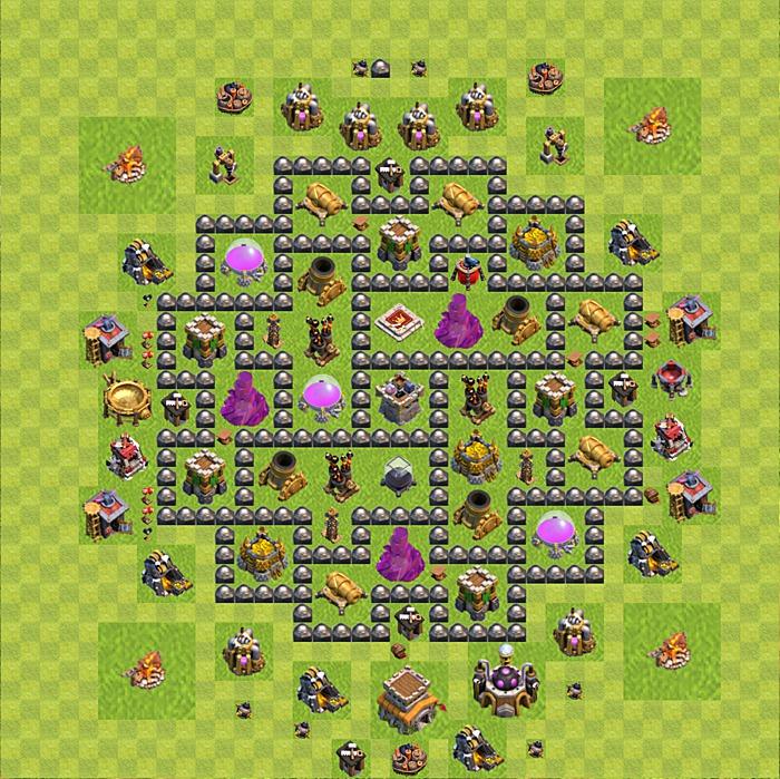 farming base untuk town hall 8 atau th 8 paling keren farming base