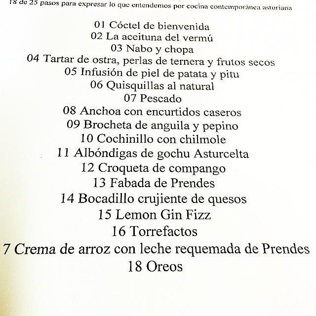 Casa Gerardo menú