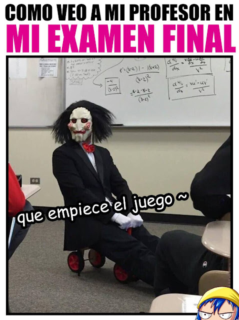 Como veo a mi profesor en mi examen final