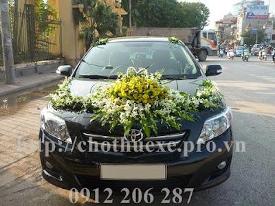 Cho thuê xe cưới giá rẻ Toyota Altis