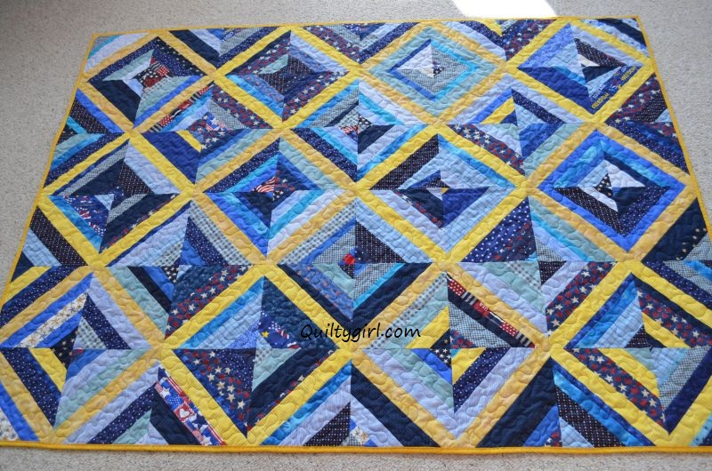 Alycia Quilts: Blue and Yellow Quilt : blue and yellow quilt - Adamdwight.com