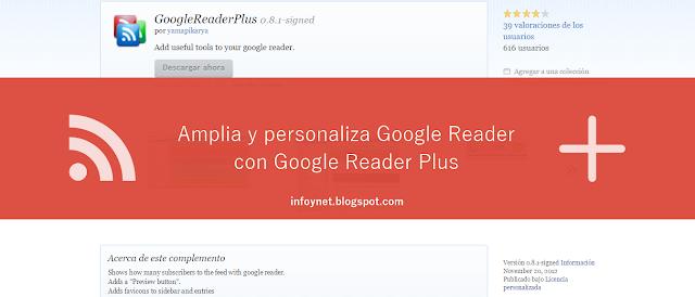 Amplia y personaliza Google Reader con Google Reader Plus