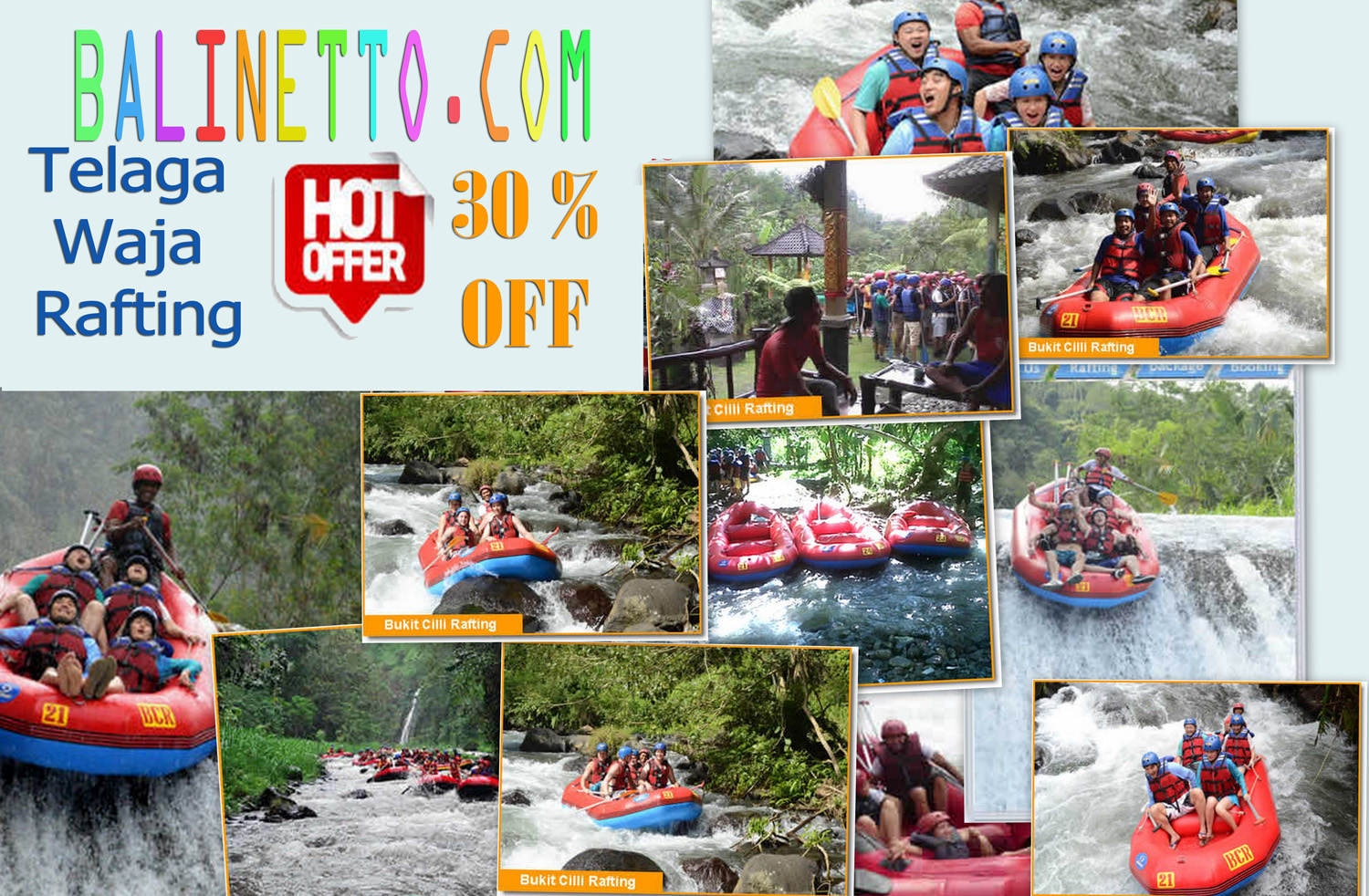 Balinetto Tiket Voucher Donat Boat Watersport Tanjung Benoa Bali White Water Rafting Telaga Waja Discount 30 Cheap