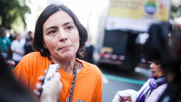 Soninha Francine, pré-candidata à prefeitura pelo PPS, compareceu à Parada LGBT, realizada na avenida Paulista, em São Paulo. A ex-vereadora tuitou tudo que viu no evento (Foto: Leonardo Soares)