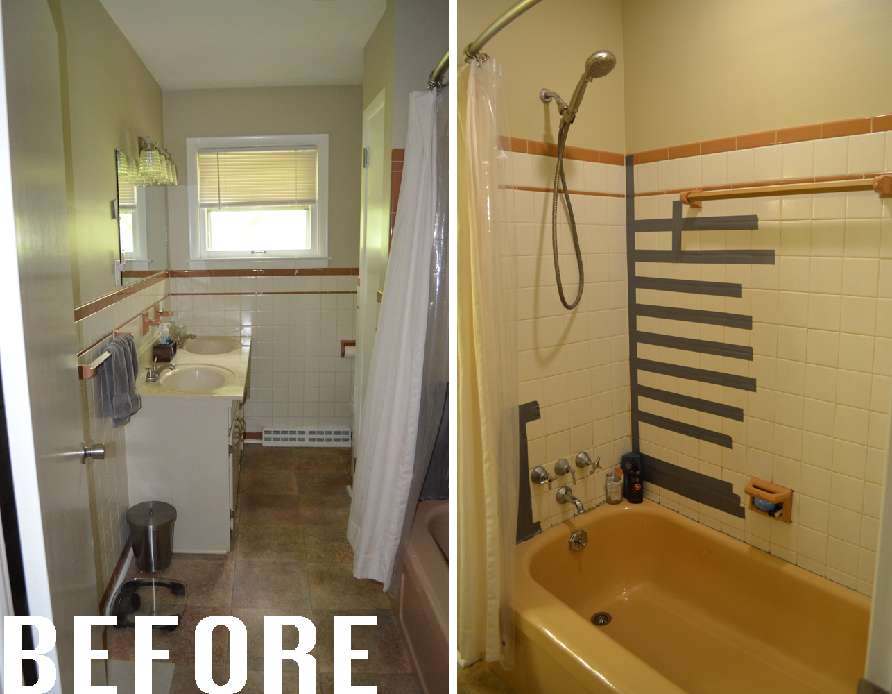 how we prepared for our bathroom remodel 1950s bathroom before and after - 1950s Bathroom Remodel Before And After