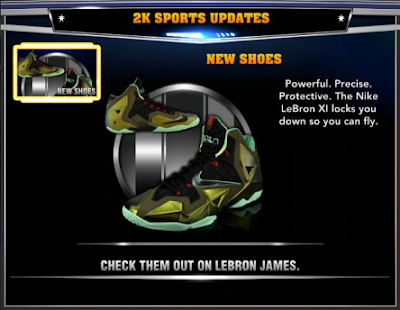 NBA 2K14 Roster Update Adds LeBron XI