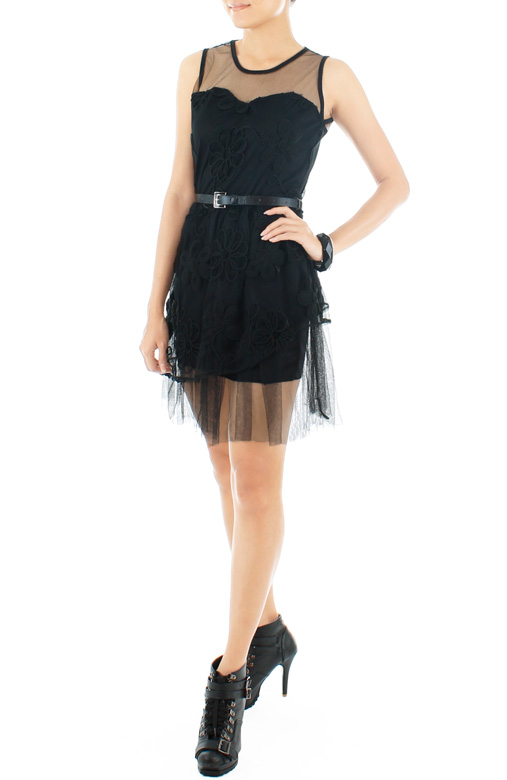Que Sera Sera Dress - Black