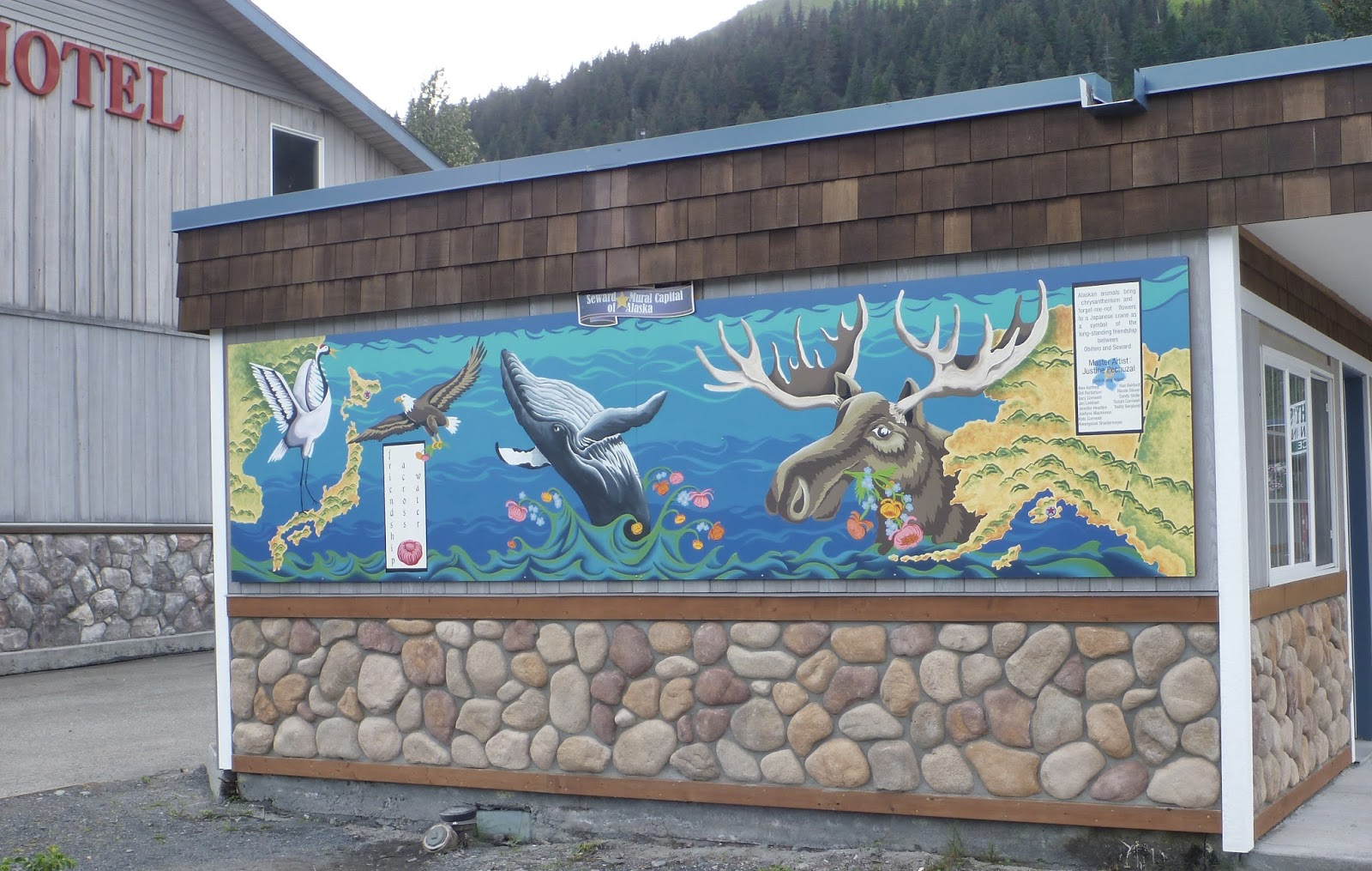 Alaska Natives, #Alaska #mural #art #publicart #Seward 2013