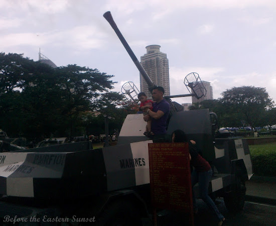 Anti-aircraft gun at Luneta Park