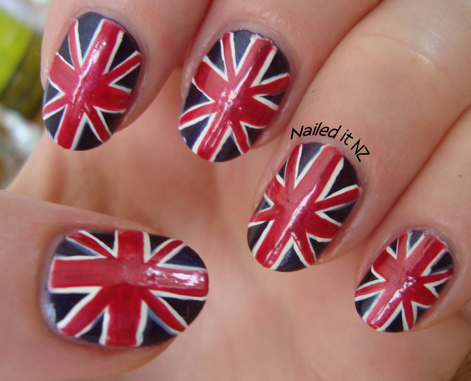 Union Jack nails AND my full nail polish collection!