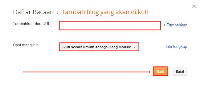 Tambahkan Blog