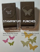 comparison of Stampin'UP!'s 2 butterfly punches