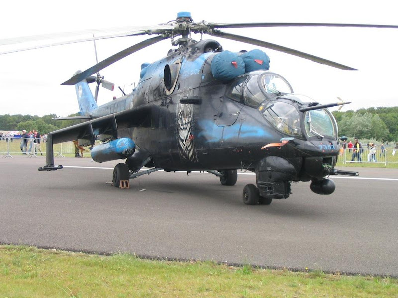 Mi-24 Russian Air Force Attack Helicopter