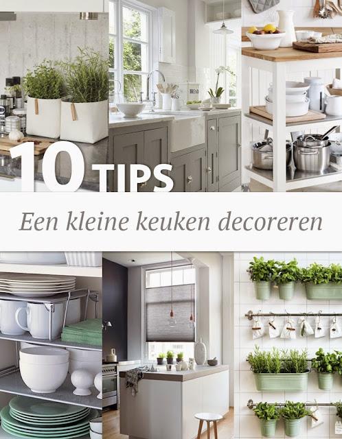 10 tips een kleine keuken decoreren wonen maken leven - Decoratie kleine keuken ...