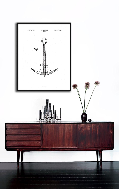 Patent illustration_Anchor_anker_Shop artworks online at House of Bæk & Kvist