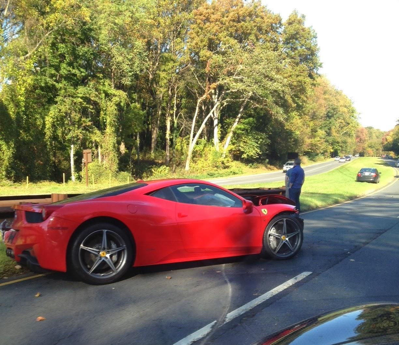 Ferrari 458 Italia Crashes On George Washington Parkway