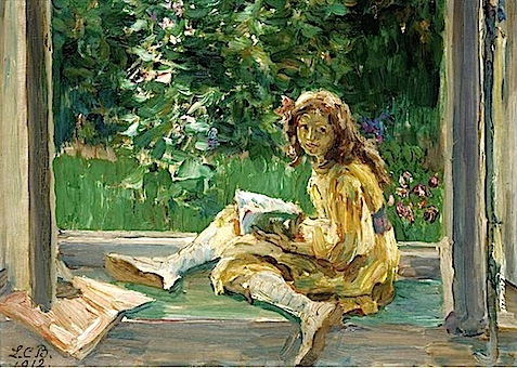 Louise-Catherine Breslau. Young Girl Reading by a Window, 1912