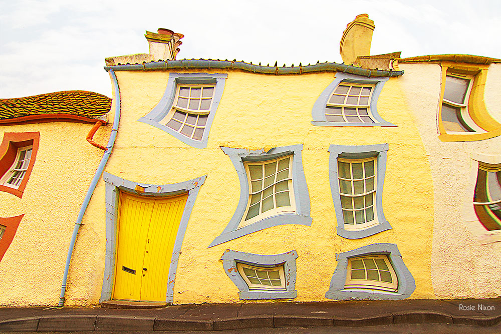 yellow melting terrace house dali style