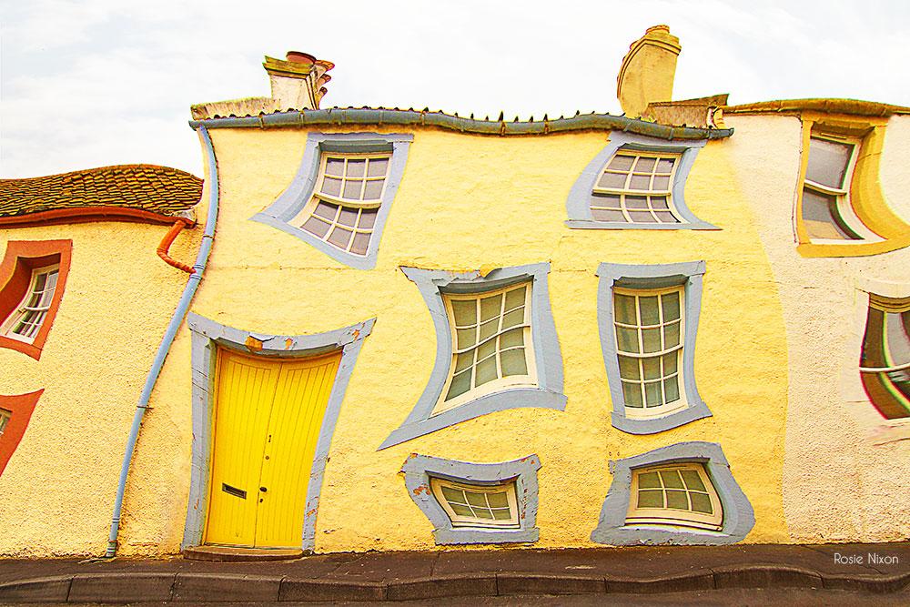 yellow melting terrace house dali style