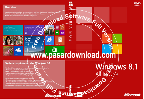 Free Download Microsoft Windows 8.1 AIO 20in1 32 Bit Pre-Activated 2014