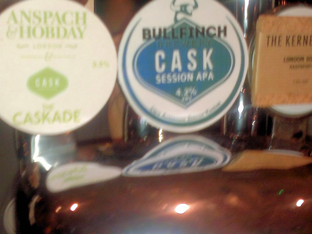 A beer at the Cask called 'Cask' - on keg!