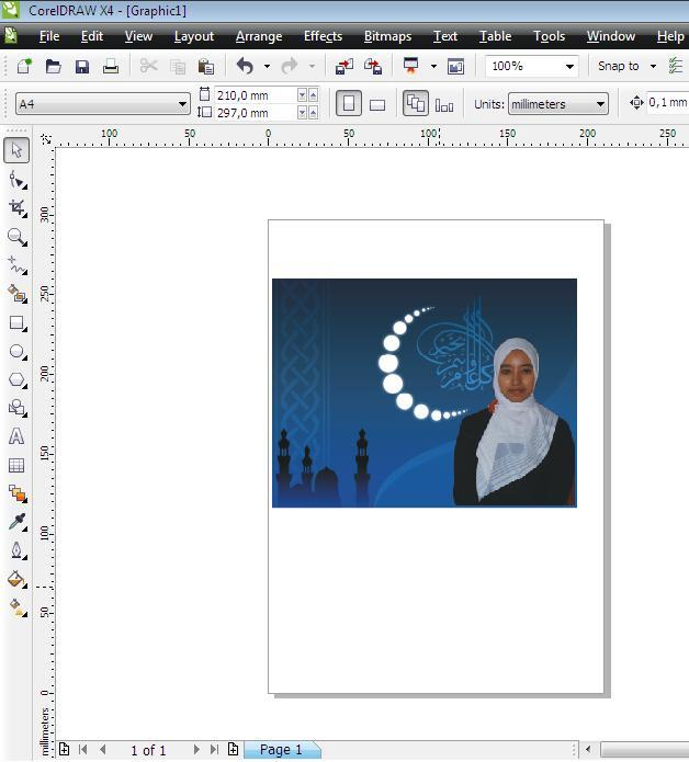 tutorial mengganti background foto dengan corel draw