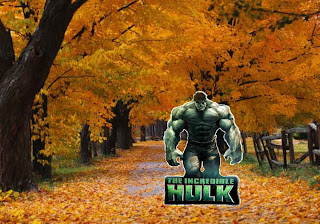 Hulk Free Wallpapers The Incredible Hulk The Movie in Classic Autumn Trees background