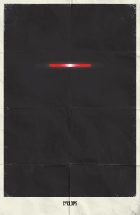 marko manev ilustração poster minimalista super heróis marvel Ciclope