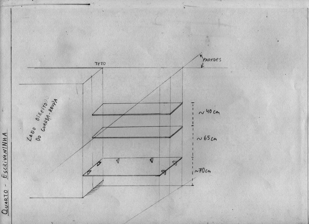 Projeto De Escrivaninha Para Quarto ~ Planejamento da escrivaninha ao lado do guarda roupas no quarto su?te