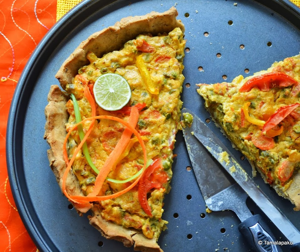 Cashew Vegetable Quiche