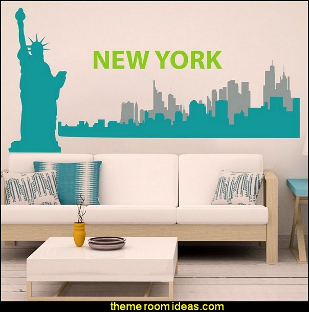 New York Wall Decal New York City Wall Sticker New York Skyline Wall Mural Wall