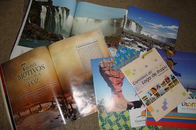 Material de divulgação das Cataratas do Iguaçu