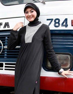 Zenitha Koleksi Busana Muslim Ukuran Big Size 11 hitam abu