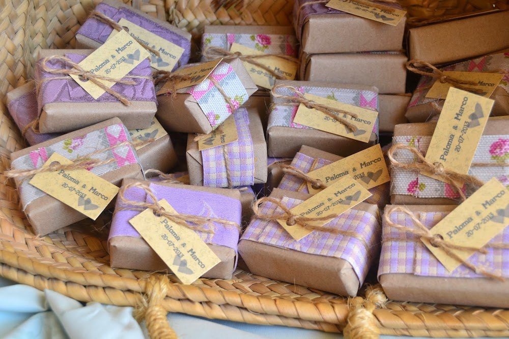 Detalles de boda jabones artesanales de lavanda