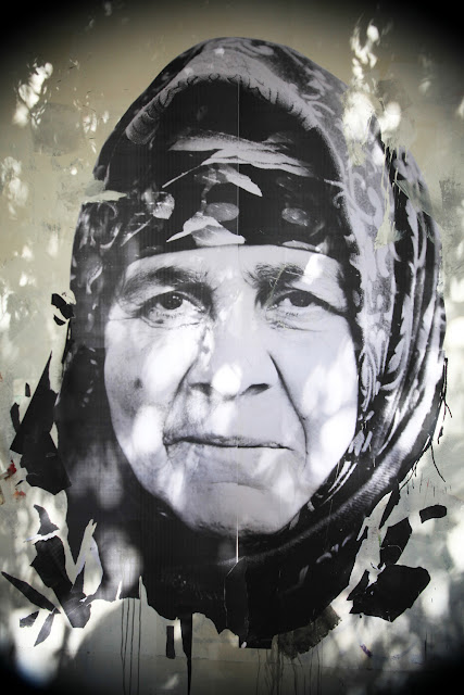 Street Art Portrait By Borondo With Local Greek Artists In Athens, Greece. 4