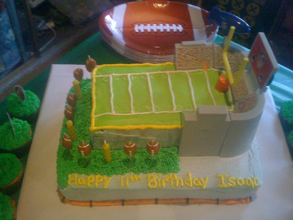 Shannons Crazy Kitchen Football Stadium Cake