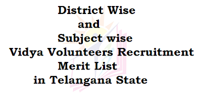 District Wise,Vidya Volunteers,Merit List