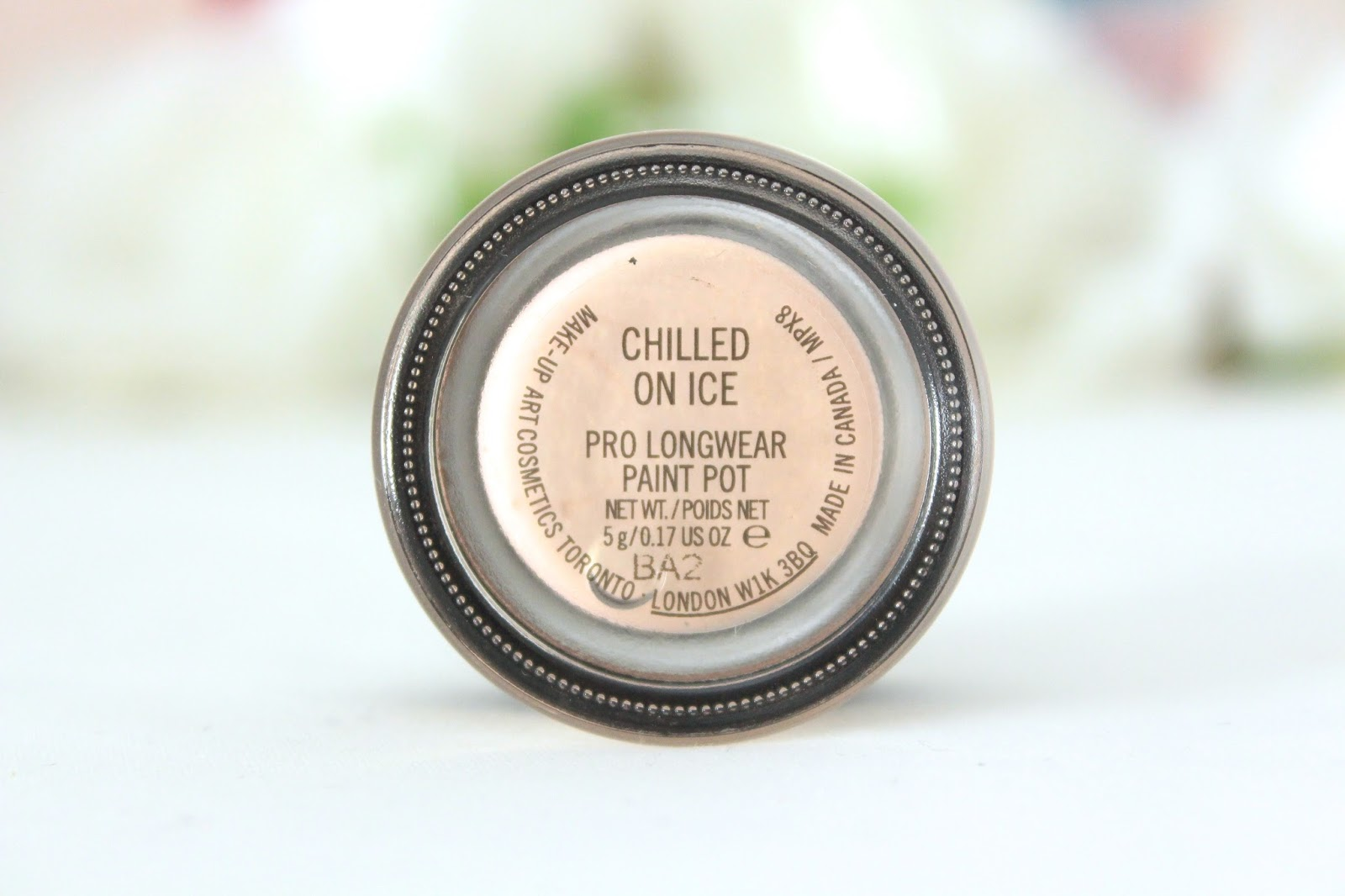 lipgloss lashes mac chilled on pro longwear paint pot review swatches
