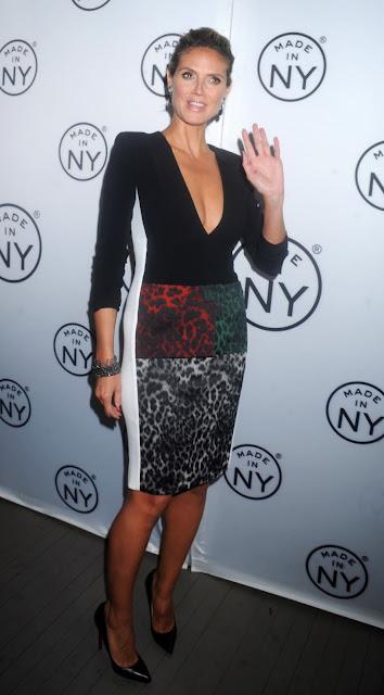 Heidi Klum in Louboutins and huge cleavage