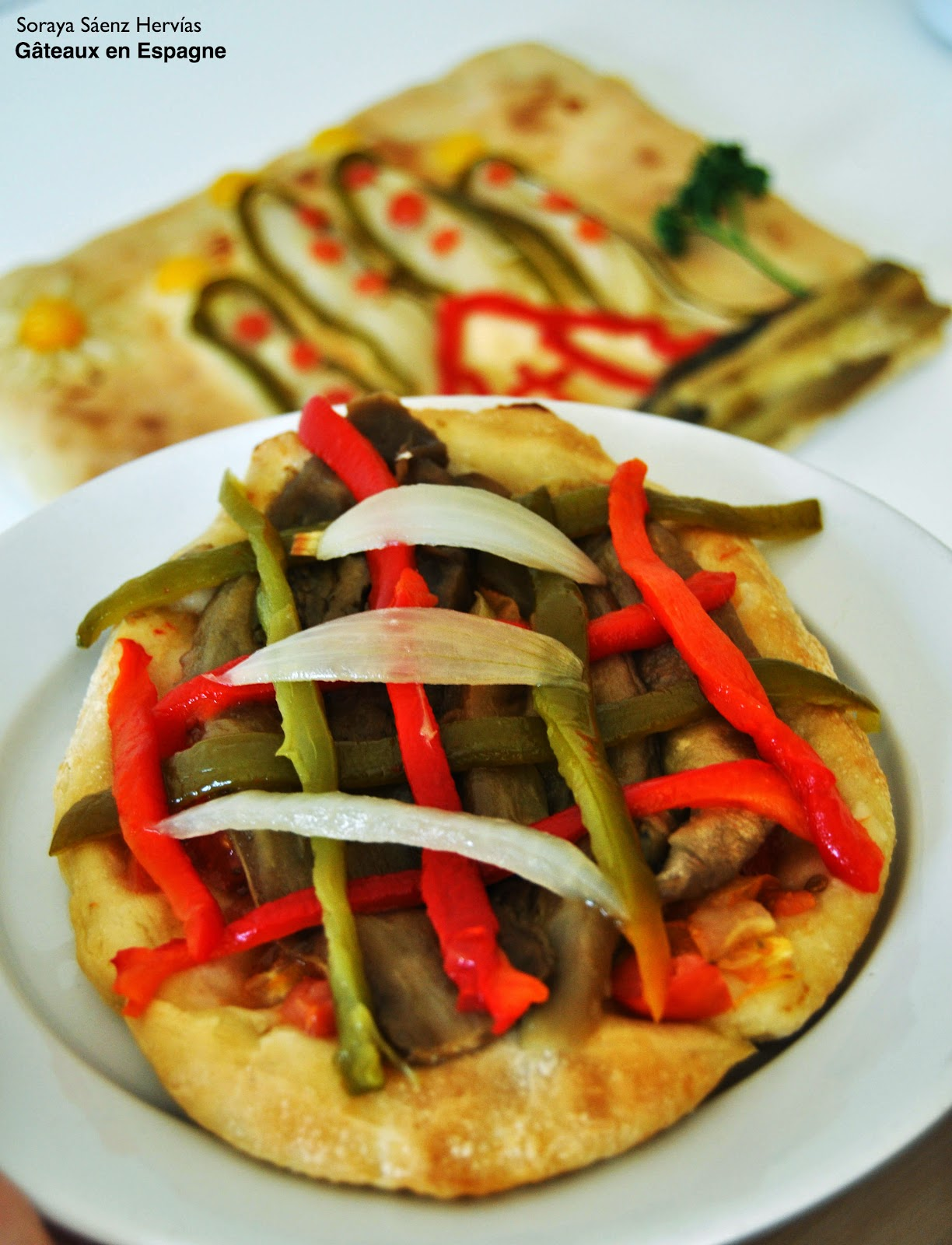 pizza aux légumes coca escabibada