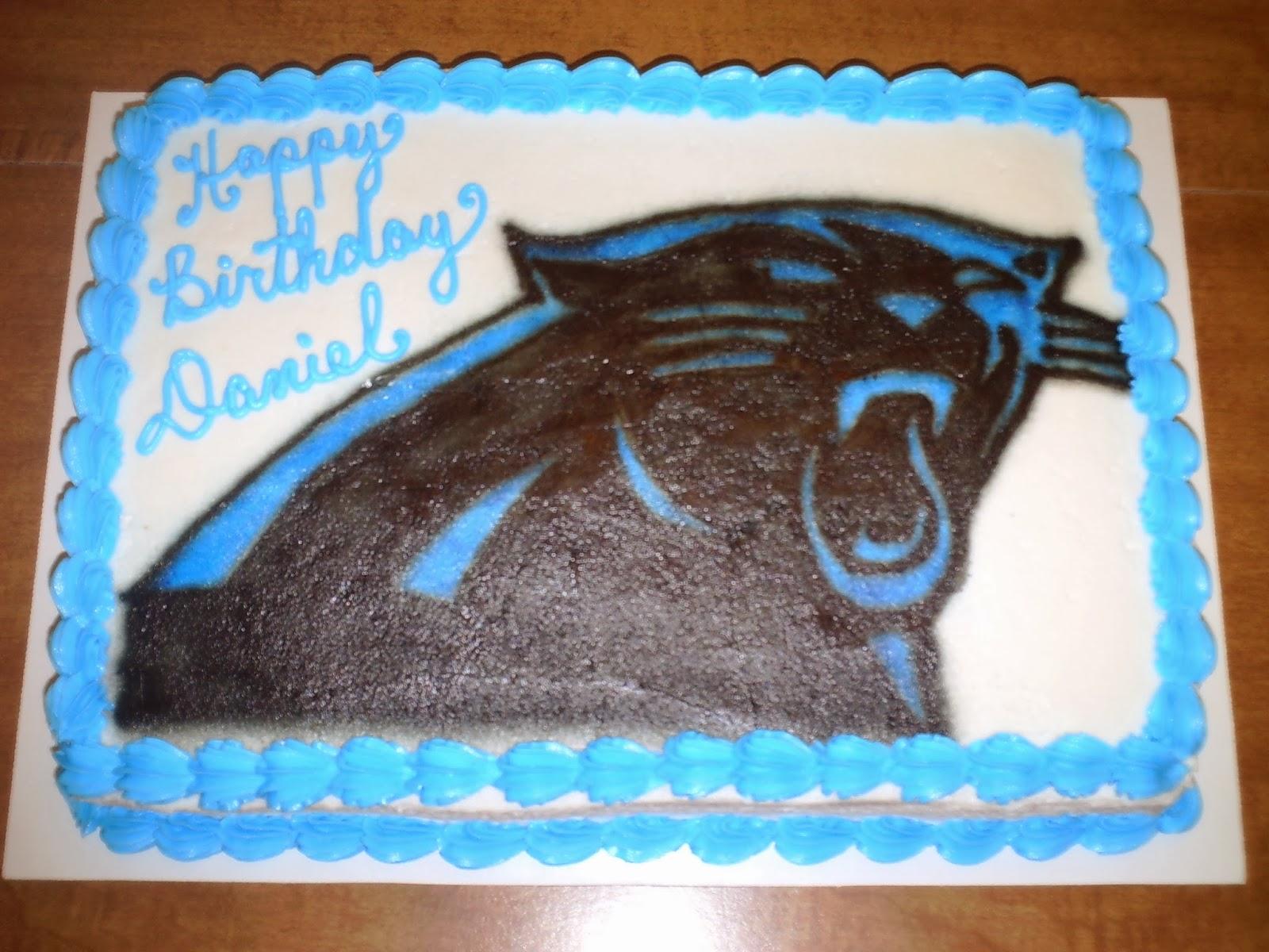 Art-n-Cake: Carolina Panther Cake