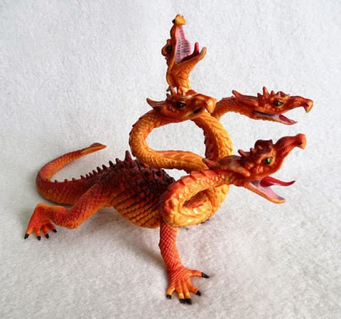 Plastic Four-Headed Dragon