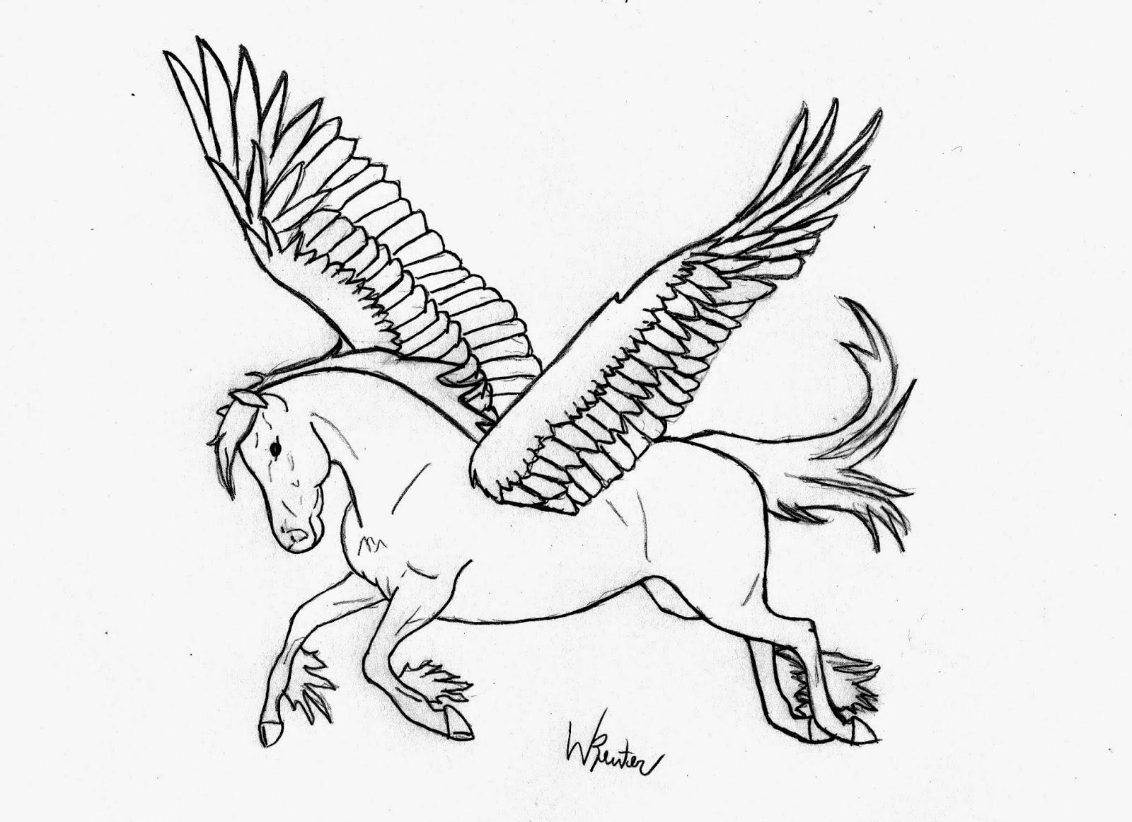 guuhdesenhos como desenhar pegasus cavalo com asas