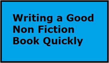 how to write a good non fiction book