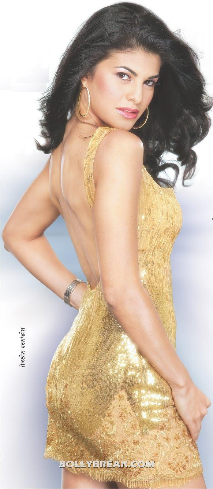 Jaqueline Fernandez in golden sexy dress - Jaqueline Fernandez in Hot Golden short Dress