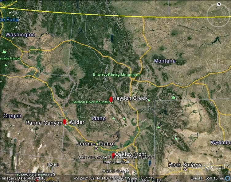 Meteorite Maps and Impact Craters - Worldwide: Idaho Meteorites Map