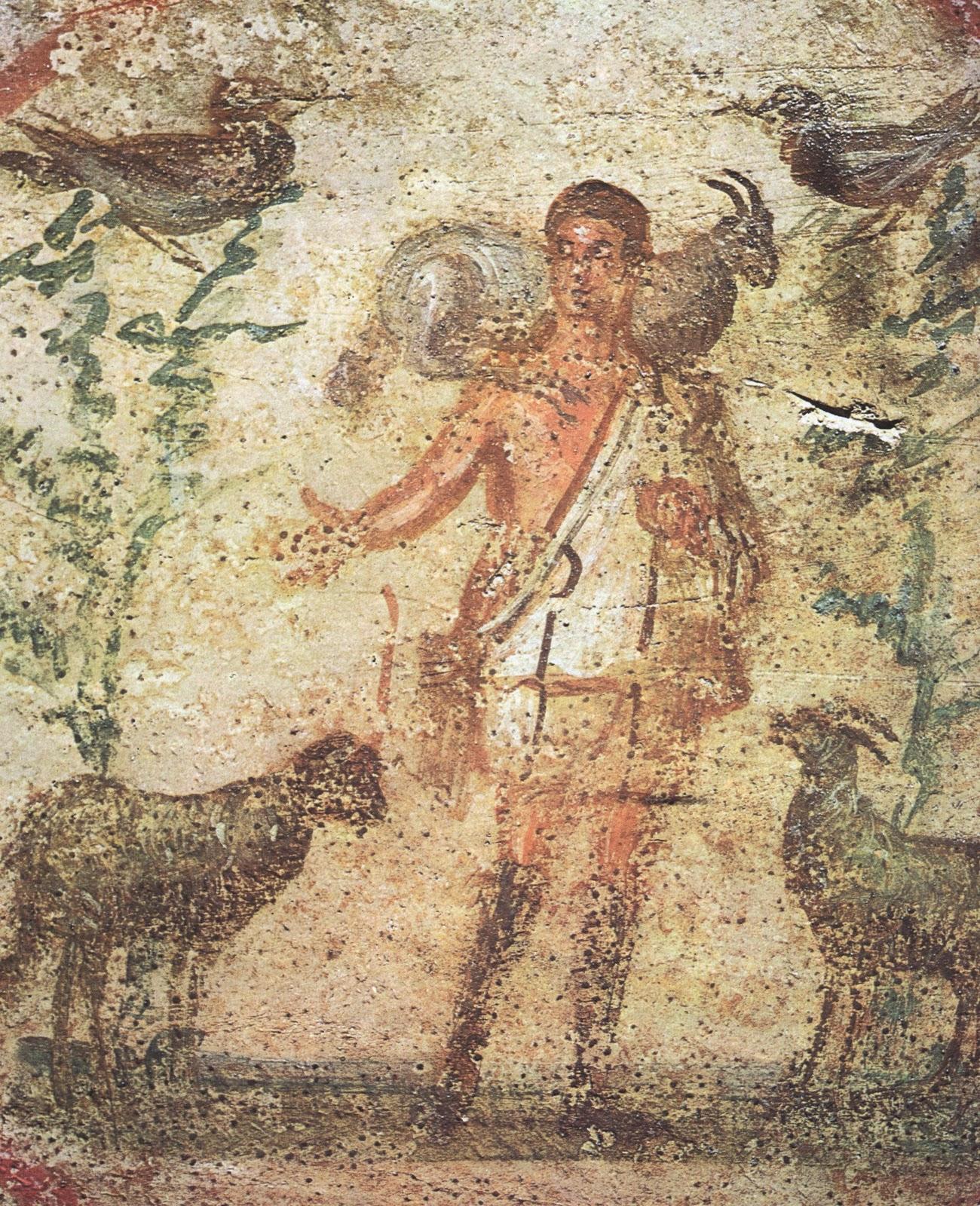Historia del arte catacumbas for El mural de mosaicos
